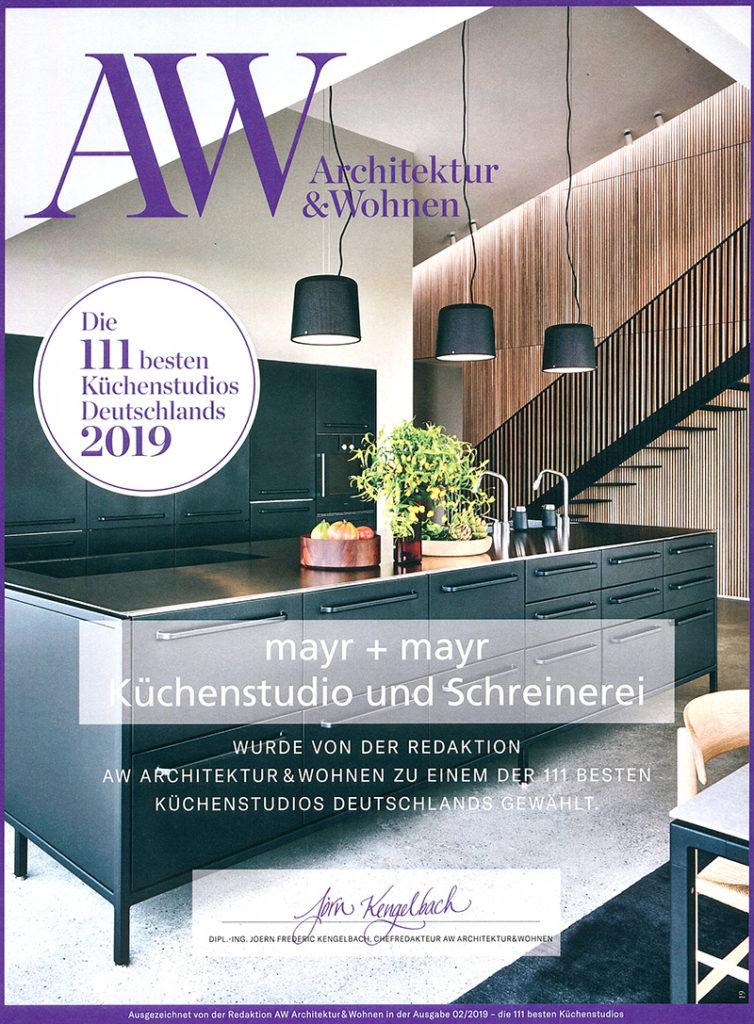 Architektur und Wohnen - eines der 100 besten Küchenstudios 2019 in Deutschland