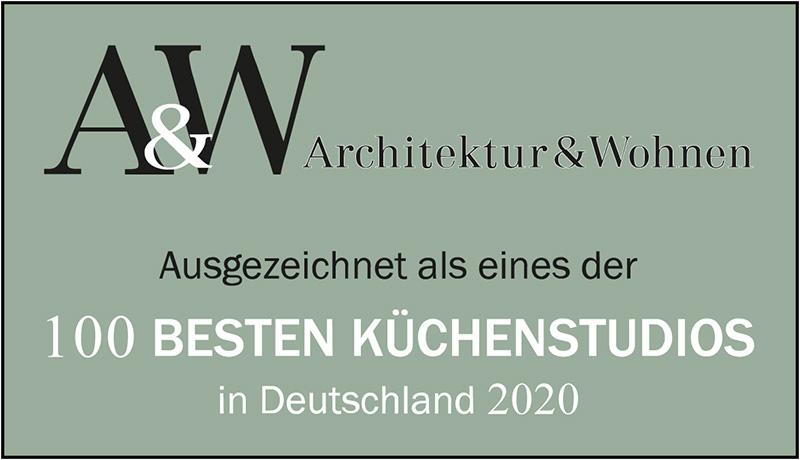 Architektur und Wohnen - eines der 100 besten Küchenstudios 2020 in Deutschland